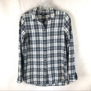 MADEWELL plaid cotton button down top